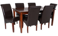 Jofran Baroque Brown Table & 6 Chairs