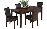 Jofran Baroque Brown Table & 4 Chairs