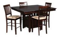 Jofran Baker's Cherry Counter Table & 4 Stools