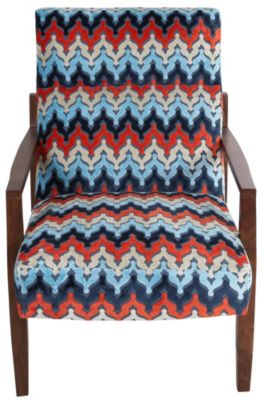 Jonathan Louis Abby Wood Accent Chair