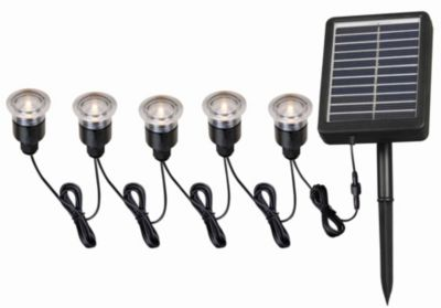 Kenroy 5-Light Solar Spotlight Set