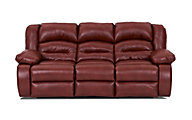 Klaussner Austin Red Reclining Sofa
