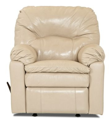 Klaussner Bennington Cream 100% Leather Recliner