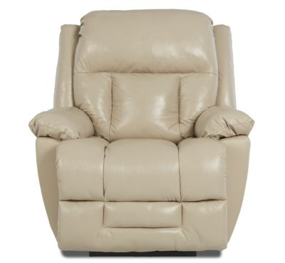 Klaussner Biscayne Cream 100% Leather Power Recliner