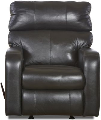 Klaussner Bradford Black 100% Leather Recliner