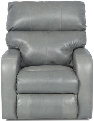 Klaussner Bradford Gray Leather Power Recliner