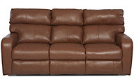 Klaussner Bradford Mocha 100% Leather Power Reclining Sofa