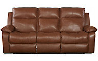 Klaussner Castaway Chocolate Leather Reclining Sofa