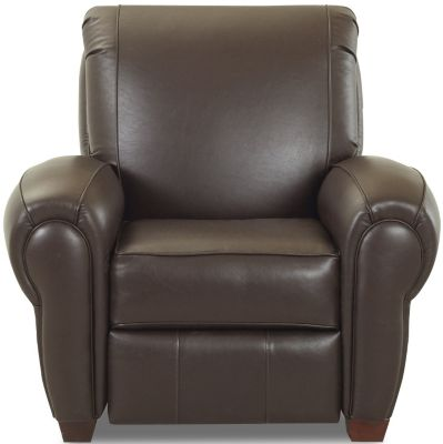 Klaussner Cigar Espresso Leather Recliner