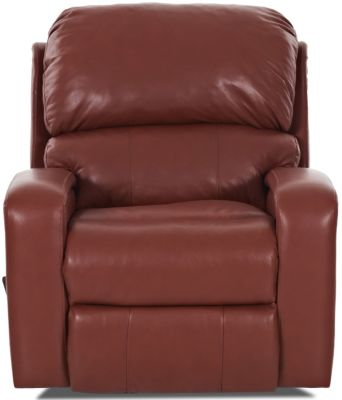 Klaussner Fairhope Leather Glider Recliner