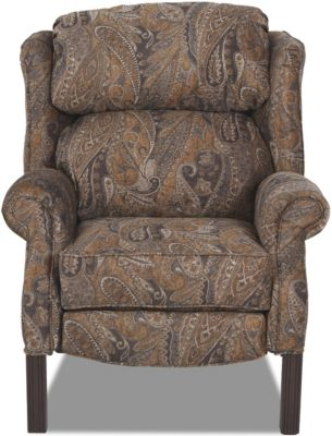 Klaussner Greenbrier High Leg Recliner