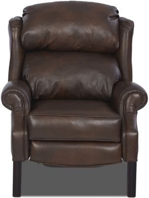Klaussner Greenbrier Leather High Leg Recliner