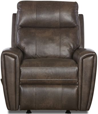 Klaussner Impala Chocolate Leather Rocker Recliner