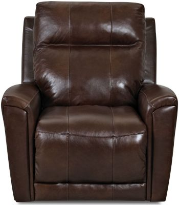 Klaussner Priest Leather Swivel Rocker Recliner
