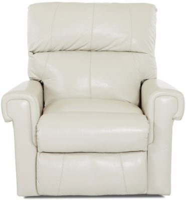 Klaussner Rivera Cream Leather Power Recliner