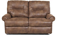 Klaussner Roadster Coffee Power Reclining Loveseat