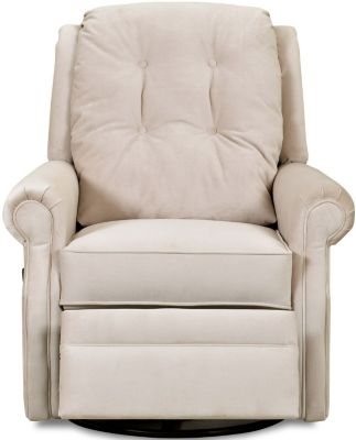Klaussner Sand Key Cream Swivel Rocker Reclining Chair