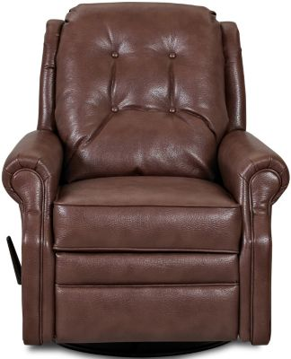 Klaussner Sand Key Chocolate Swivel Gliding Recliner