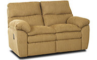 Klaussner Sanders Yellow Reclining Loveseat