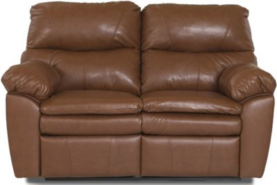 Klaussner Sanders Leather Reclining Loveseat