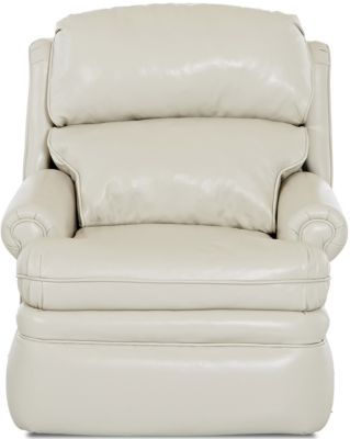 Klaussner Sylvan Cream Leather Power Recliner