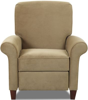 Klaussner Troupe Tan High Leg Recliner