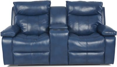 Klaussner Wilson Power Reclining Loveseat with Console