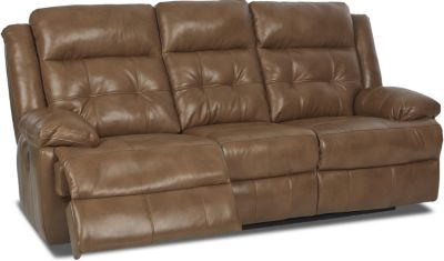 Klaussner Zeus Chocolate Power Reclining Sofa