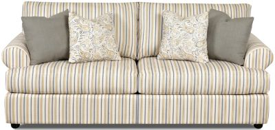 Klaussner Briggs Striped Sofa