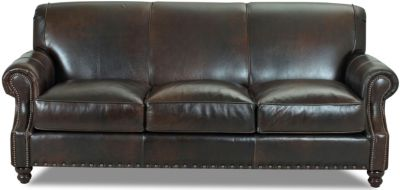 Klaussner Fremont 100% Leather Sofa
