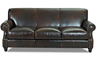 Klaussner Fremont Leather Sofa