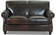 Klaussner Fremont Leather Loveseat