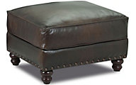Klaussner Fremont 100% Leather Ottoman