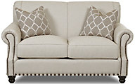 Klaussner Fremont Cream Loveseat
