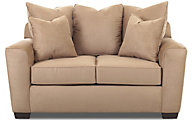 Klaussner Heather Tan Loveseat