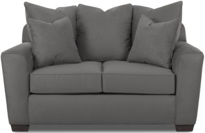 Klaussner Heather Gray Loveseat