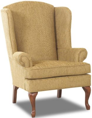 Klaussner Hereford Latte Wing Chair