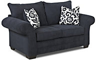 Klaussner Holly Navy Loveseat