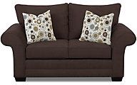 Klaussner Holly Chocolate Loveseat
