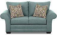 Klaussner Holly Teal Loveseat