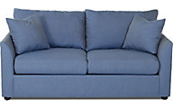 Klaussner Kalvin Blue Queen Sleeper Sofa