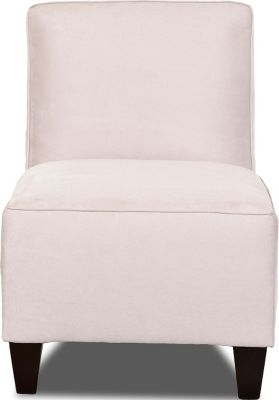 Klaussner Kaylee Cream Armless Chair
