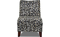Klaussner Linus Black and White Armless Chair
