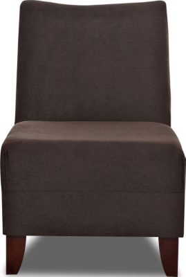 Klaussner Linus Chocolate Armless Chair