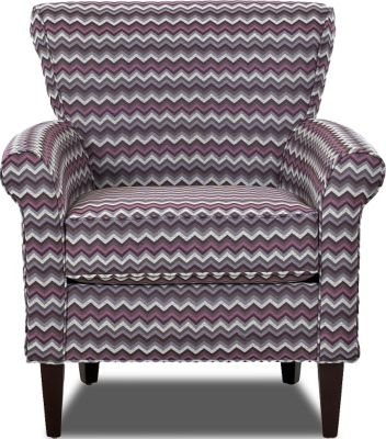 Klaussner Louise Chevron Accent Chair