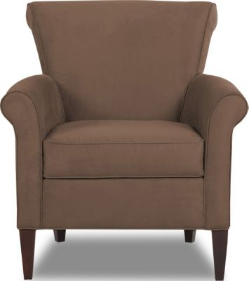 Klaussner Louise Chocolate Accent Chair
