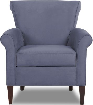 Klaussner Louise Slate Blue Accent Chair