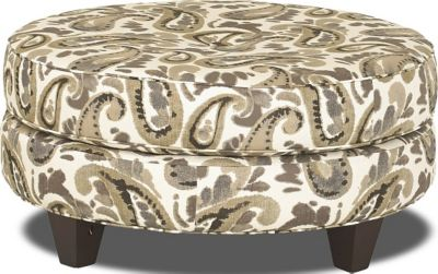 Klaussner Pippa Paisley Cocktail Ottoman