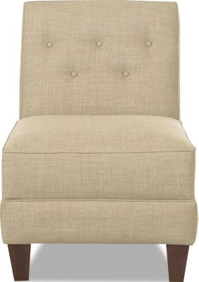 Klaussner Teagan Cream Armless Chair