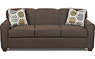 Klaussner Zuma Brown Queen Sleeper Sofa